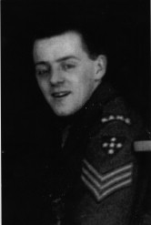 B&W photo of Peter Hughes in Military Uniform