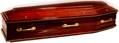 Solid Mahogany Irish Coffin