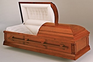 Solid Timber American Cremation Casket