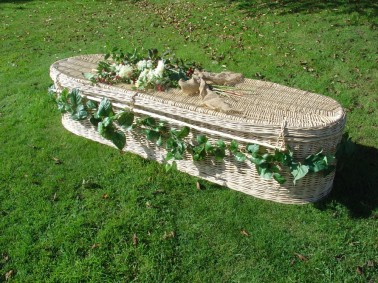 photo of a willow coffin in Radcliffe
