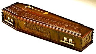 Italian Last Supper Coffin