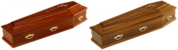 Mahogany / Walnut Traditional Italian Coffin