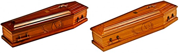 Mahogany / Oak Traditional Italian Coffin